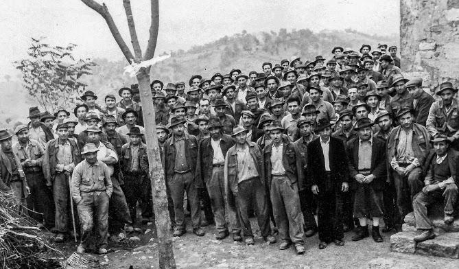 foto di gruppo miniere